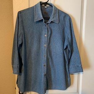FoxCroft, Chambray Shirt Size 14W (284)